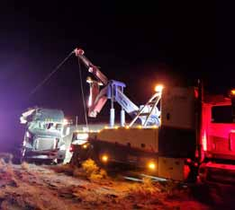 Highway closes Saturday after high winds topple semi-truck