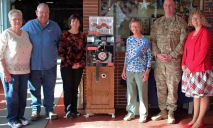 New souvenir penny machine at Hawthorne Ordnance Museum