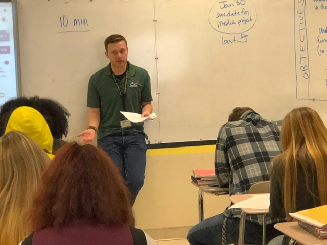 Great Basin College ambassador visits MCHS senior students