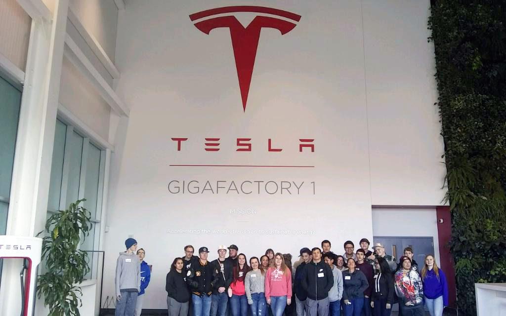 Students tour Tesla Gigafactory