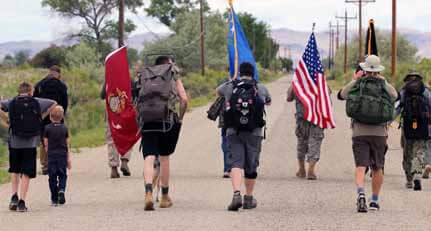 Operation Battle Born's 400-mile ruck-sack march to come through on Armed Forces Day