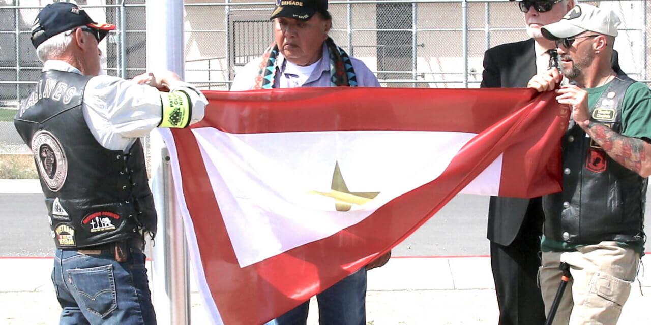 VFW dedicates flag pole at Gold Star memorial