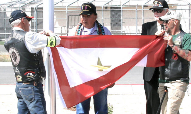 VFW dedicates flag pole at Gold Star memorial