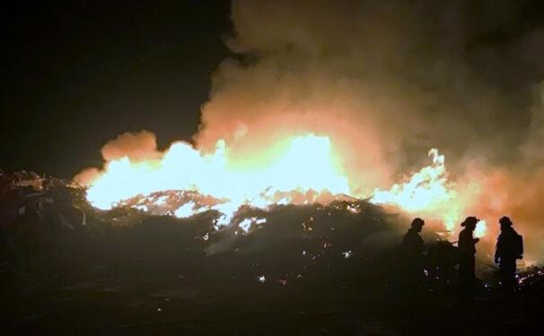 Dump Fire Extinguished