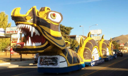 'Cecil the Serpent' Wins Top Honors at Nevada Day Parade