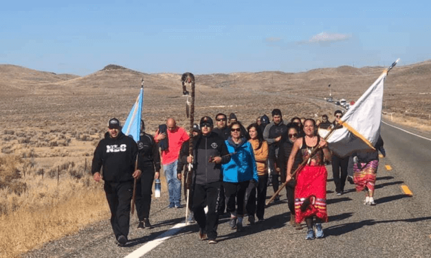 Members of Paiute Tribes Bless Highway after Fatal Accidents