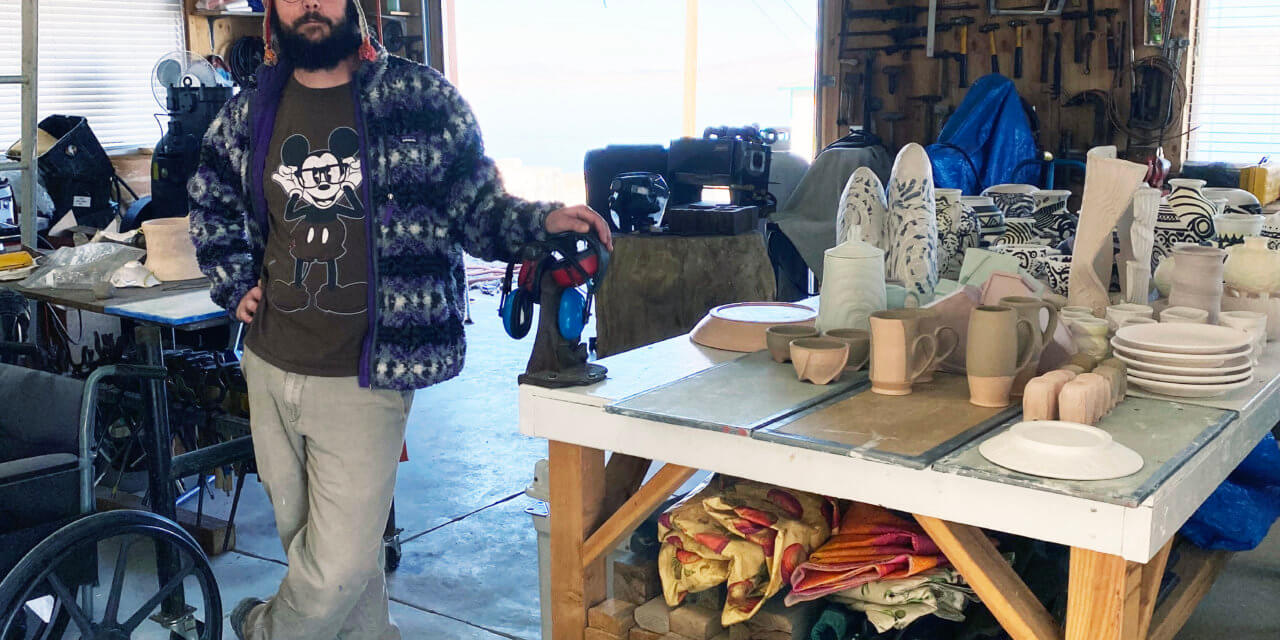 Walker Lake serves as backdrop and gathering place for local artisans